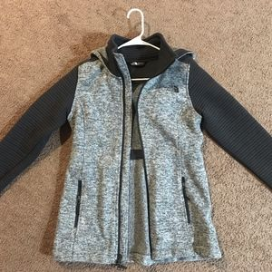 North Face Gray Hooded Winter Jacket